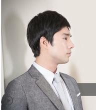 High-end real hair Men's short hair vivid natural ventilation Business handsome  boy men handsome students a variety of colors