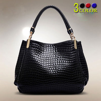 Ladies Black Leather Handbag New Tote Designer Style Celebrity Shoulder Bag 2015