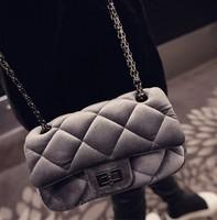 Hot New Arrival Women's handbag velvet chain bag mini bags women's  vintage Quilted messenger bag