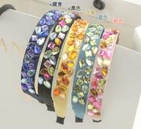 2015 new Wholesale fashion handmade bohemian colorful gems handmade hairbands headband  hairband hair accessories