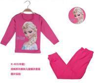 Cotton Good Quality & Hot Sale children's leisure suit for elsa Heat transfer