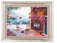 DIY Ribbon embroidery paintings set lanman 65X50 CM needlework diy embroidery room decoration