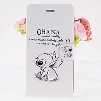 Cartoon Rabbits Pattern Leather Full Body Cases with Stand for iPhone 6 #02114889