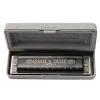 2015 New swan black 10 hole blues harmonica Key of C free shipping