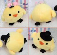 (30pairs=1lot) 10cm Rilakkuma Kiiroitori chick plush toys dolls,stuffed keychian toys small pendant, promotion wedding gifts