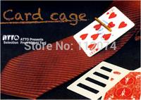 Card Cage by Hideki Tani  - magic trick,gum magic, magic toy,wholesale, free shipping