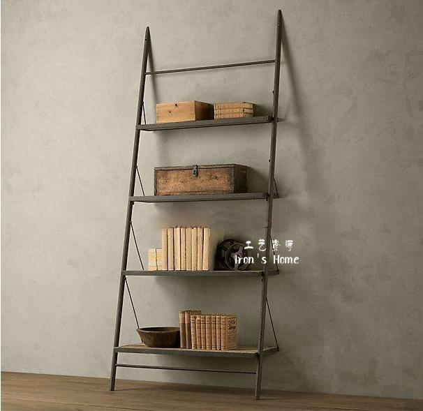 Fazer o velho ferro forjado ferro forjado prateleira de madeira de mash estilo rural francês mobiliário ferro forjado LOFT fazer o velho suporte de TV(China (Mainland))