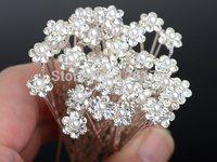 Lot 40Pcs Wholesale Wedding Bridal Pearl Flower Crystal Hair Pins Clips Bridesmaid Women Jewelry