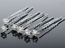 Lot 40Pcs Wholesale Wedding Bridal Pearl Flower Crystal Hair Pins Clips Bridesmaid Women Jewelry