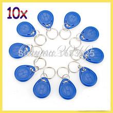 10 Pcs/lot Hot Sale New Proximity ID Token Tag Key Fob 125Khz RFID Plastic Water Resist Access Control Use