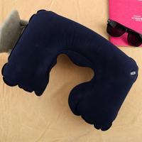 1pcs Air Inflatable Pillow U Shape Neck Rest Air Inflatable Travel Plane
