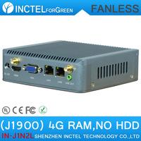 2015 Fanless ITX HTPC Computer J1900 with dual lan LVDS Nano PC Terminal
