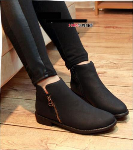Now Style Fahion Boots Autumn Winter Women Martin Boots PU Leather Thick Soles Pointed Toe Leisure Shoes For Girls w069(China (Mainland))