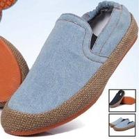 Mens Classic Jeans Shoes Espadrilles Hemp Loafers Flats Slip On