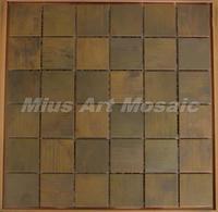 [Mius Art Mosaic] Big square Copper tile in bronze brushed for kitchen backsplash wall tile E9T6015