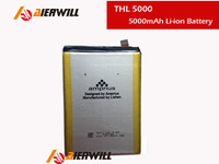 100% Original High Quality 5000mAh Li-ion Battery Replacement For THL 5000 Smart Phone free shipping with tracking number