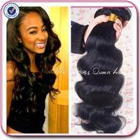 Queens hair products maylasian body wave 3 pcs lot free shipping malaysian hair weave bundles,100% human hair, no tangle no shed