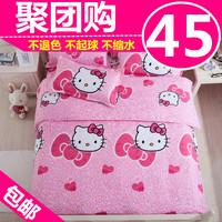 Cartoon cotton home textile 100% cotton four piece set duvet cover piece set bed sheets bedding 4