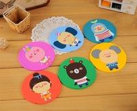Free ship! 1lot=18pc!Fashion animal silicone insulation pad / bowl cushion / disc mat /cartoon Fashion cup pad