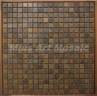 [Mius Art Mosaic] Copper tile in bronze brushed for kitchen backsplash wall tile E9T6003