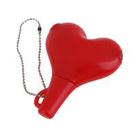 O3T# Red Heart Shape 3.5mm Earphone Headphone Male to 2 Female Audio Splitter Cable Adapter