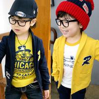new 2015 spring boy baseball jacket retail 1-4 year baby's outwear kids coat long sleeve  coat baby jacket