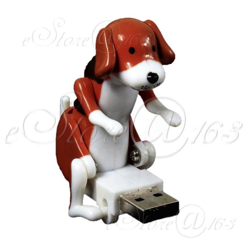 Japanese Style Cute USB Humping Dog Toy Longer Lasting Edition Great Fun Doll Gadget - Brown(China (Mainland))