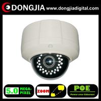 DA-IP8616TDFZ-POE 2.8-12mm zoom lens zoom&focus Motorized zoom lens 5 megapixel 5mp dome ip vandalproof dome camera