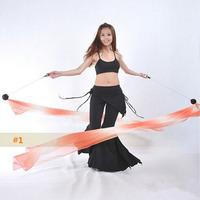 Sexy Belly Dance Accessory Gradient Silk Veil Poi 1 Veil + 1 Thrown Ball