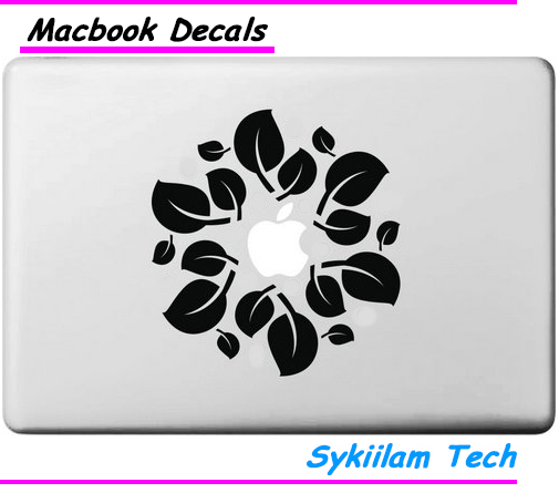 Fresh Tree Leaf Logo for Apple Decal for Macbook Skin Air 11 13 Pro 13 15 17 Retina Computer Laptop Wall Vinyl Creative Sticker(China (Mainland))
