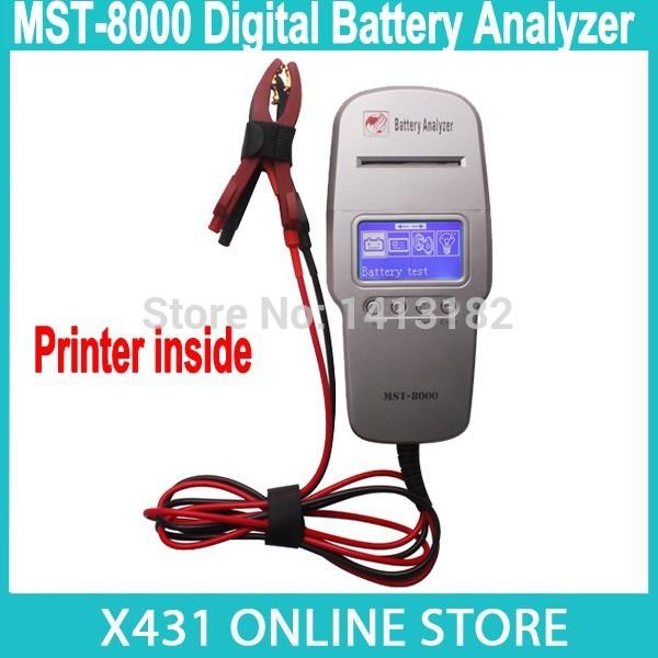 Master MST-8000 Digital Battery Analyzer with Printer Built-in MST8000 MST 8000 Automotive Battery Tester Start System Test(China (Mainland))