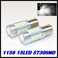 1pcs/lot Super Bright White High Power ba15s LED 5730-SMD 1156 15LED Bulbs For Brake, DRL, Turn Signal, Backup Lights Lamps