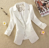 Casacos Femininos Woman Clothes Coat 2015 New Candy-colored Stitching Lace Slim Temperament Fashion Jacket S-XXL 176