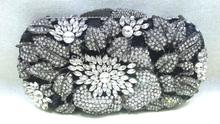 Bg10035, Италия кристалл камни муфты черный алмазы сумочка для дамы ну вечеринку мешок