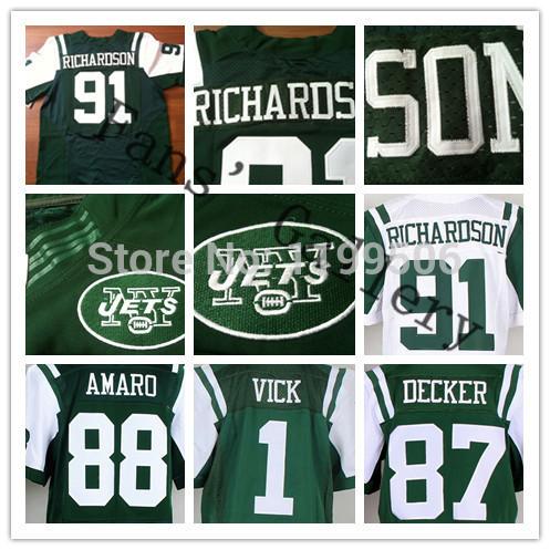 Free shipping,stitched american football jersey elite #91 Sheldon Richardson football jersey decker /vick /richardson football s(China (Mainland))