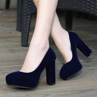 free shipping  fashion high-heeled pumps platform pointed toe thick heel wedding shoes ol shoes 601 single shoes