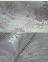 3D embossed wallpaper flocking American big flower blue backdrop Bedroom Living Room