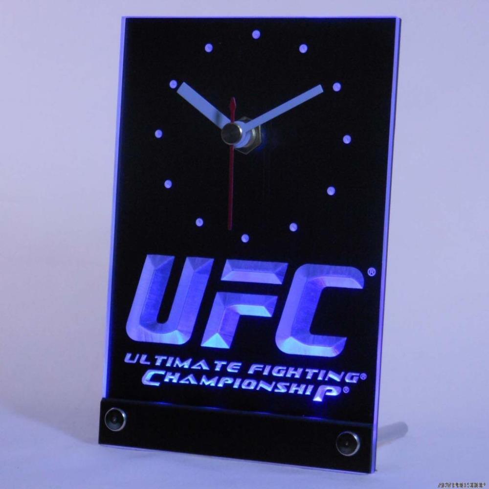 tnc0137 UFC Ultimate Fight Championship Table Desk 3D LED Clock(China (Mainland))