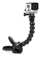 Camera Jaws Flex Clamp Mount + Adjustable Neck for Gopro Hero 3+ 3 2 1 Black