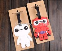 free shipping 24pcs/lot Cute Big Hero 6 For Kids Travel Baggage Luggage Tag Name Tag