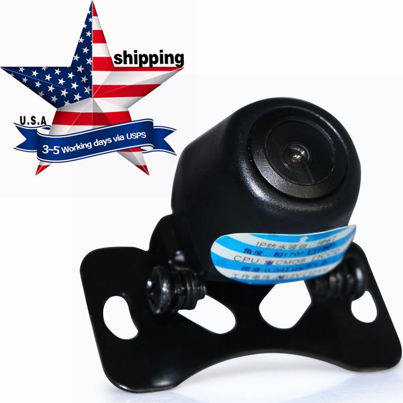 Universal Mini Rear View Camera CCD Reverse Backup Car Front Camera Night Vision 12V 170 Wide Angle USA Shipping 3-5Working days(Hong Kong)