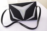 The new spring 2015 fashion female bag, fashion splicing patterns, single shoulder bag, inclined shoulder bag