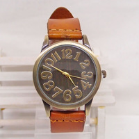 Genuine Cow leather wrist watch wholesale fashion double colors wrist watch men women ladies KOW042