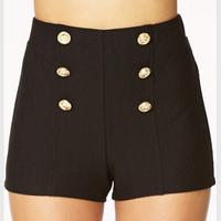 Women short hot new fashion casual bleak selling fashion jean women black shorts sheath high quality shorts with Rivet