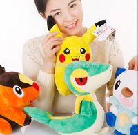 Free shipping 1pcs 30cm Pokemon Doll Pikachu Tepig Snivy Oshawott Pokemon Plush Doll Pokemon toys best birthday gift for kids