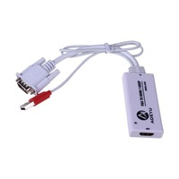 NEW VGA Analog Inout & USB Power To HDMI Digital Signals LCD 1080p Audio Video Converter Adapter Cable For PC TV