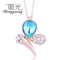 New fashion crystal droplets big gem necklace short paragraph female factory wholesale