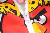 free shipping 2015 new best quality fashion Children coat  boy's zipper hooded coat  kids birds Outerwear