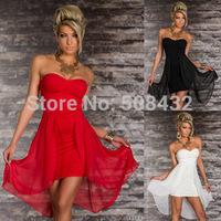 2015 new women's dresses nightclub sexy backless strapless dress with high quality women's dress