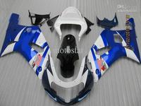 Blue White fairings for 2001-2003 GSXR 600 K1 GSXR 750 01 02 03  2001 2002 2003 free custom